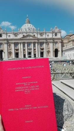 The Positio of the Servant of God, Jerome Lejeune, in Vatican